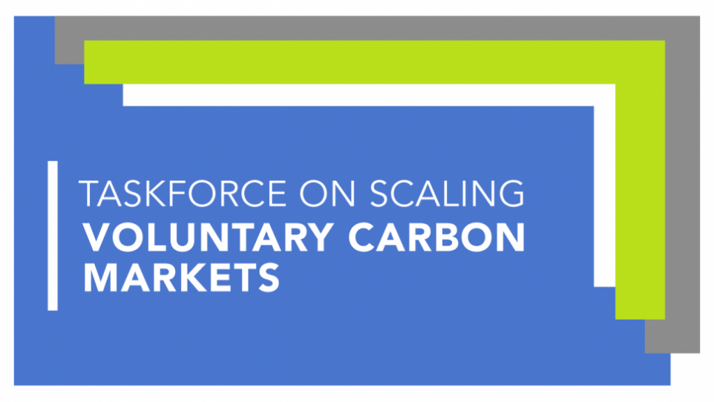 Taskforce on scaling voluntary carbon markets